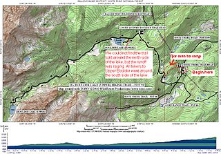 Boulder Lakes map