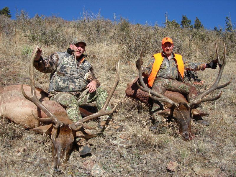 Eddie and buddy elk 2009